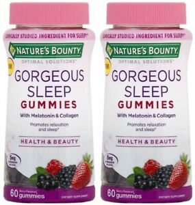 Nature's Bounty Optimal Solutions Gorgeous Sleep 5mg Gummies 60 counts 2pks