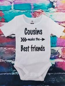BOY OR GIRL baby suit romper COUSINS printed in AUSTRALIA sizes 0-0000