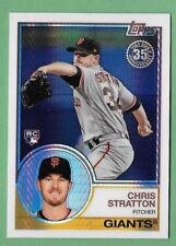 CHRIS STRATTON 2018 Topps Update SILVER PACK 1983 Chrome Refractor GIANTS RC 119