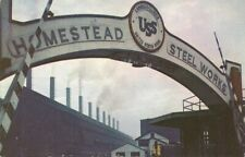 Early 1960s USS United States Steel Homestead Works Munhall PA Postcard