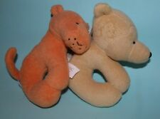Gund, Disney, Winnie the Pooh and Tigger, baby rattle 2pc set, New.