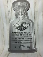 "THAT'S MY TICKET 2011 Boston Bruins Opening Night Ticket 11"" Signed Marc Savard"