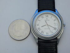 CONCORD FULL SOLID STAINLESS STEEL STEEPLECHASE DATE MEN'S WATCH #2
