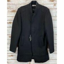 APTRO Men's Winter French Woolen Coat Business Down Jacket Trench Topcoat