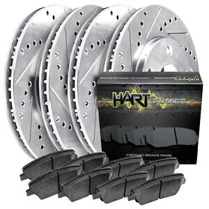 For 2015-2017 Ford F-150 HartBrakes Full Kit  Brake Rotors+Ceramic Brake Pads