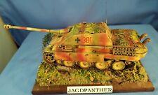 1/48 scale Pro Built German Wwii JagdPanther Tank Destroyer w Ground work Base