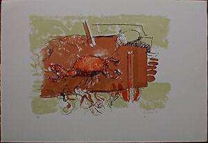 ENRICO VISANI litografia 1981 50x35 il Cancro dai Segni Zodiacali firmata lapis