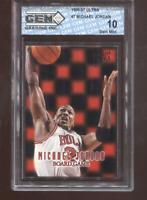 Michael Jordan 1996-97 Fleer Ultra #7 Board Games Bulls HOF GEM MINT 10