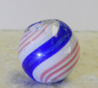 #12981m Large .77 Inches Vintage German Handmade Peppermint Swirl Marble