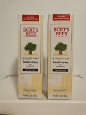 2 Burt's Bees Ultimate Care Hand Cream + Baobab Oil Very Dry 3.2 oz