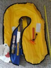 West Marine Sospenders Adult Self or Manual Inflatable Life Jacket Vest 80+ LBS
