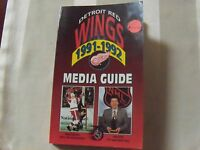 Detroit Red Wings 1991-1992 Media Guide 20 Autographs  Yzerman, Lidstrom, & more