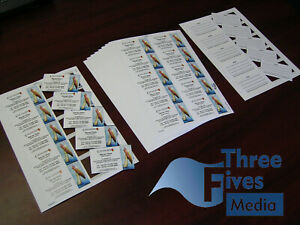 50 sheets of 10 Pre cut blank Business Cards - print your own