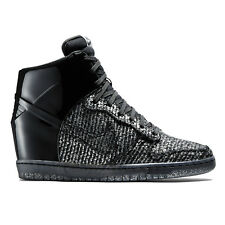 New Nike Dunk Sky Hi Vac Tech VT QS NYE Womens Shoes Wedge Sneakers Black Wool 8