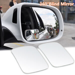 2x Side Auxiliary Blind Spot Wide View Mirror Small Rearview Car Truck Universal