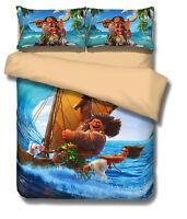 Moana Kids Bedding Set Quilt/Duvet/Doona Cover Single/Double/Queen/King 3PCS