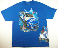Nascar #48 Jimmie Johnson Double Sided Graphic T-shirt Mens XL Blue Lowe's