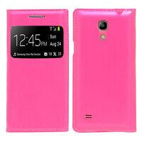 Housse Etui Coque Plastique View Case ROSE Samsung Galaxy S4 mini i9190 i9192