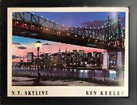 KEN KEELEY • 59th Street Bridge, New York Print • Framed