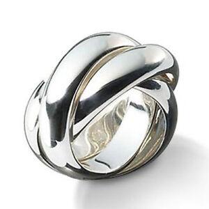 """Silber Ring """"kleiner Dreier"""" (Sterling Silber 925) 3er Ring, Rollring, Dreifach,"""