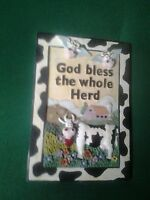 """""""God Bless The Whole Herd"""" Cow-Themed Plaque"""