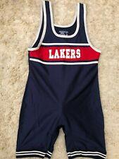 Vintage MATMAN shiny school team wrestling shorts singlet adult L