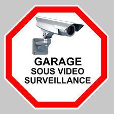 GARAGE VIDEO SURVEILLANCE CAMERA PROTECTION 9cm AUTOCOLLANT STICKER (GA069).