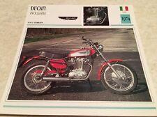 Fiche moto collection Atlas Motorcycle Ducati 450 Scrambler 1974