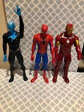 "Lot Of 3 Hasbro Action Figures -Spiderman,Ironman,etc-11"""