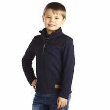 Regatta Boys Childrens Kids Top Notch Grid Fleece Jumper - Navy Blue /Black