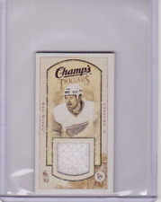 JOHAN FRANZEN 09/10 CHAMPS CHAMP'S MINI THREADS JERSEY #MT-JF Card Game-Used