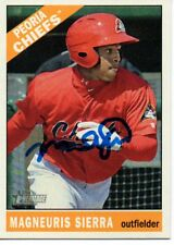 Magneuris Sierra St. Louis Cardinals 2015 Topps Heritage Minors Signed Card