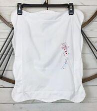 Baby Pratesi Baby Pillow Sham White Scalloped Embroidered Fish Print 20L X 16W
