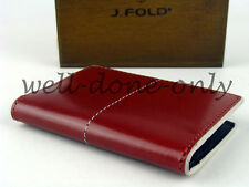 J.Fold red blue white leather Mini Case card holder mens Minimalist Wallet gift
