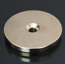 1x 50mm x 5mm N52 Super Strong Round Magnets Hole 6mm Disc Rare Earth Neodymium