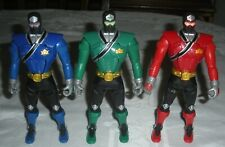 "3 Power Rangers Samurai Switch Morphin Head Flip 6.5"" Bandai 2010"