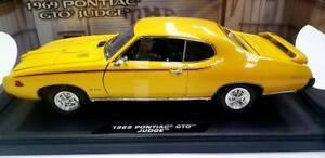 1:18 scale diecast model of 1969 Pontiac GTO Judge die cast car Yellow