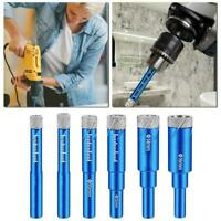 Opener Diamond Coated Hole Saw Set Cutter Glass Marble Drill Bits Tool L2B3