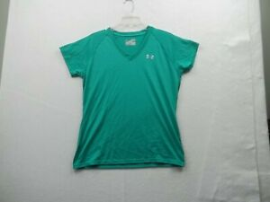 Under Armour Heat Gear Womens  Green Top Size Medium, Ex Cond!