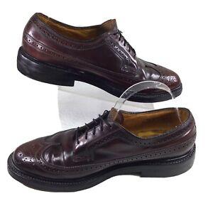 VIntage Florsheim Imperial Shell Cordovan Men's Wingtip 93605 Shoes Sz 8.5