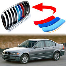 Fits BMW 3 Series E46 1997-2001 Kidney Grille Grill M Color Cover Stripe Clip