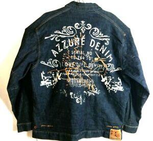 AZZURE Outerwear Men Jacket Size 2XT Jean Denim Jacket