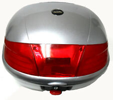 SILVER HARD CASE LUGGAGE BOX, TOP BOX FOR SCOOTER / MOTORCYCLE