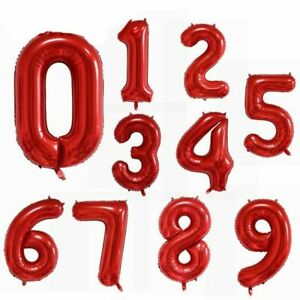 Number Balloons Foil Balloon Wedding Party Birthday Decor Baby Shower 16 40 Inch
