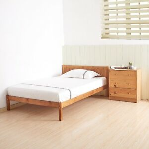 Double Bed wooden in Oak Colour 4ft6 double bed  4ft6 frame