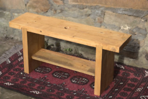 Reclaimed Scaff Board Small Bench Table