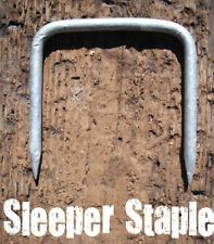 HEAVY DUTY SLEEPER CONNECTING STAPLE / PIN - RAILWAY - TIMBER DOG - GALVANISED