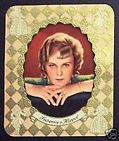 Susanne von Hippel 1934 Garbaty Film Star Series 1 Embossed Cigarette Card #247