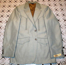 MESQUITE by NIVER LIGHT GREY WESTERN ACCENTED JACKET - NEW SUIT COAT - 36R - m4