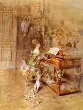 Boldini Giovanni La Pianista A4 impresión